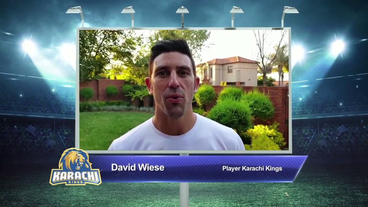 David Wiese – Karachi Kings PSL Season#3