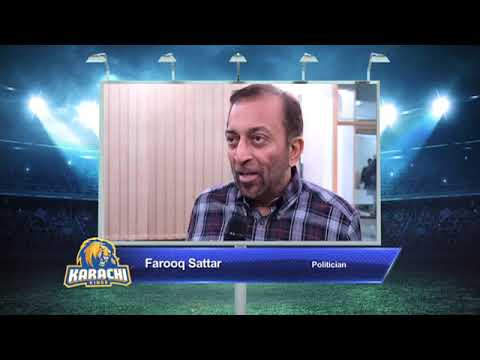 Farooq Sattar – Karachi Kings PSL Season#3