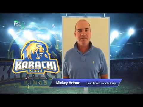 Mickey Arthur – Karachi Kings PSL Season#3