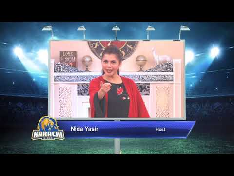 Nida Yasir – Karachi Kings PSL Season#3